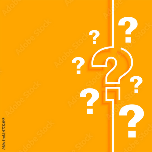 Obraz na plátně orange question mark background with text space