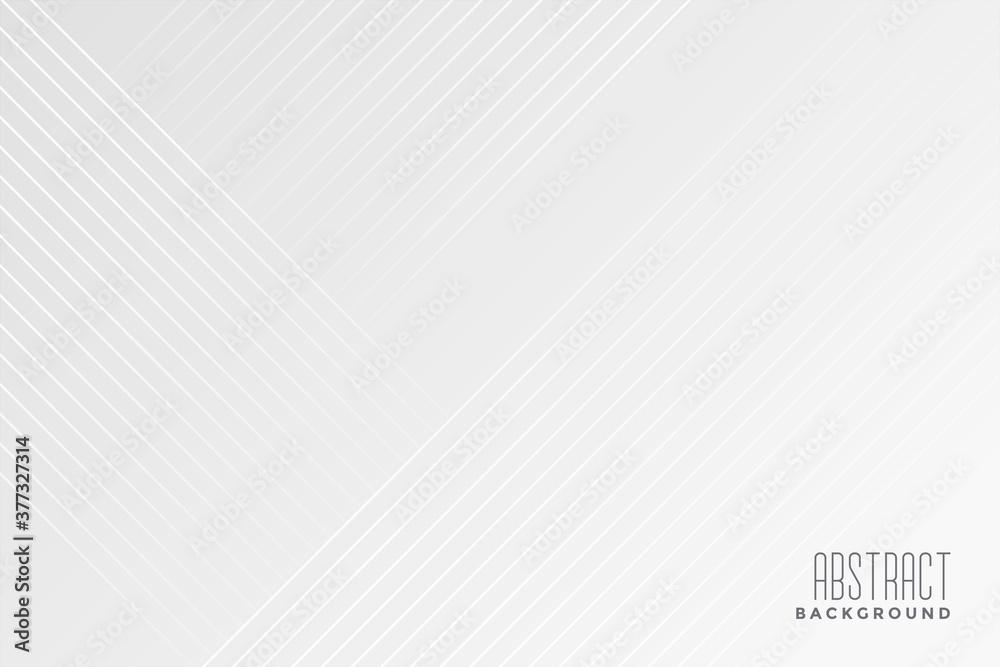 Fototapeta white background with diagonal lines design