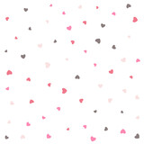 nice love small hearts pattern background design
