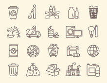Set Of Icons For Rubbish And W...