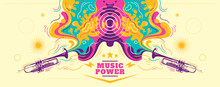 Colorful Abstract Musical Bann...