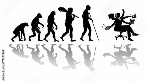 Evolution of the labor market from prehistoric times to the present day Fototapet