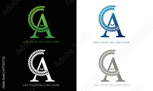 A latter logo. It's a natural logo. Tableau sur Toile