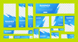 set of corporate web banners of standard size with a place for photos. Vertical, horizontal and square template. vector illustration EPS 10