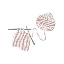 Knitting Illustration, Hygge Essentials, Yarn Ball