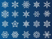 Snowflake Vector Christmas Icon Set, Snowflake Winter Icon Symbol