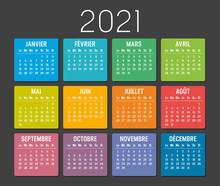 Calendrier Agenda 2021 Couleur