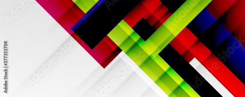 Geometric abstract backgrounds with shadow lines, modern forms, rectangles, squares and fluid gradients Canvas Print