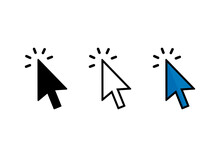Cursor Click Icon, Cursor Sign And Symbol Vector