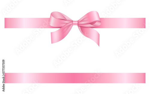 Obraz na plátně pink ribbon with bow