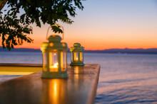 Beautiful White Lanterns In Th...
