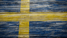Sweden Flag Painted On Weather...