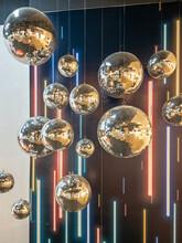 Many Rotating Disco Balls