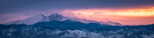 Sunset Panorama In The Rocky M...