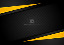 Abstract Template Yellow Geome...