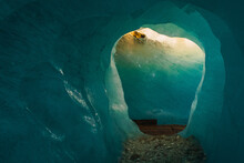 Paisaje De Un Glaciar En Suiza