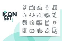 Media Icon Set. Vector, Design...