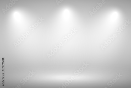 Obraz Grey gradient background. Abstract illustration background texture of beauty dark and light clear grey, gradient flat wall and floor in empty spacious room. - fototapety do salonu