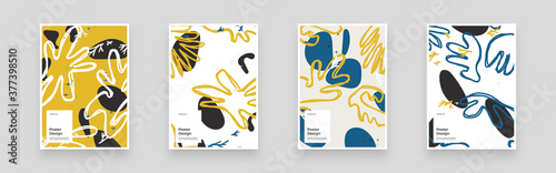 Carta da parati Abstract set Placards, Posters, Flyers, Banner Designs
