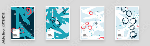 Fotografia Abstract set Placards, Posters, Flyers, Banner Designs