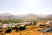 Sunny Landscape Of The Ancient Greek Island Of Naxos