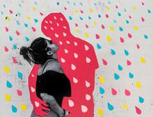Absent Boyfriend Rain Collage