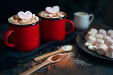 Cocoa In Enamel Cups