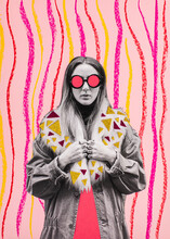 Sixties Style Woman Collage