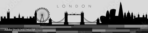 vector panorama of london Fototapete