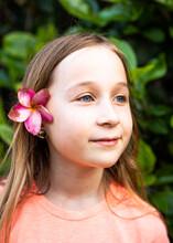 Girl Under Bougainvillea
