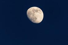 Waxing Winter Moon Closeup