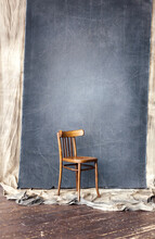 Wooden Vintage Chair In Studio...