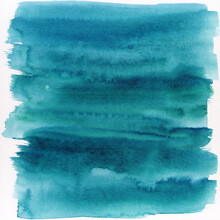 Blue Abstract Watercolor Paint...