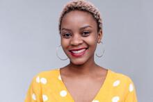 Beautiful Young Stylish Black Woman Portrait