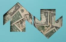 Arrow With Dollar Bills