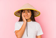 Young Asian Woman Wearing A Vi...