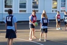Primary School Netball Team Tr...