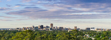 Panoramic View Of The Adelaide Skyline From A Distance