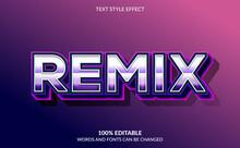 Editable Text Effect, Remix Text Style