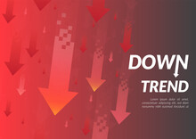 Downtrend Abstract Background....