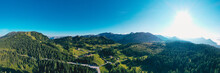 Tauplitz Alm Panorama Picture. Styria Region On A Beautiful Summer Day