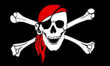 Pirate Flag With Scull And Cro...