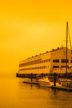 Fort Mason In Smoke