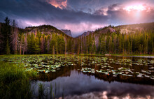 Sunset In Rocky Mountain Natio...