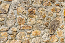 Structure Of Old Brick Wall, Textured Background.