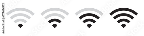 Wifi vector icons collection in simple design Canvas Print