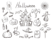 Hand Drawn Halloween Illustrat...