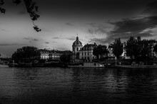 Paris By The River Seine At Night, Tribute To Ansel Adams