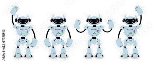 set of robots Tableau sur Toile