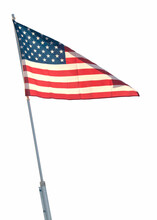 Large U.S. Flag  Isolated On W...